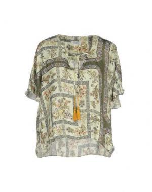 Блузка 100X200 CENTOXDUECENTO. Цвет: кислотно-зеленый