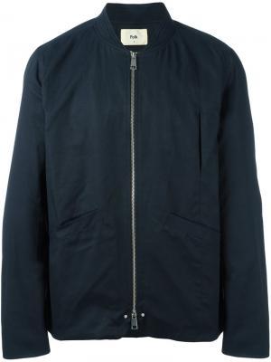 Куртка-бомбер Harrington Folk. Цвет: синий