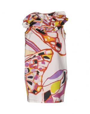 Короткое платье ADELE FADO. Цвет: белый