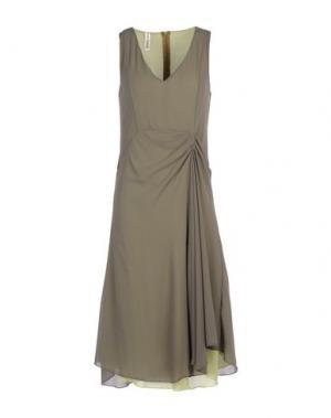 Платье до колена MICHAEL DASS. Цвет: кислотно-зеленый