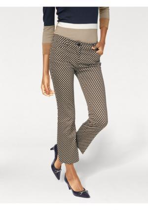 Моделирующие брюки Ashley Brooke. Цвет: светло-коричневый/темно-синий