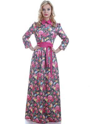 Платье OLIVEGREY. Цвет: розовый, зеленый, темно-серый