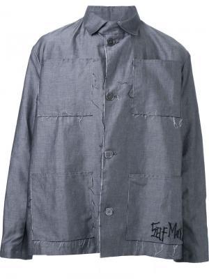 Куртка с накладными карманами Selfmade By Gianfranco Villegas. Цвет: серый