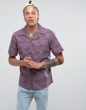 Systvm Рубашка с отложным воротником и принтом. Цвет: красный