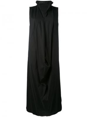Структурированное драпированное платье Federica Tosi. Цвет: чёрный