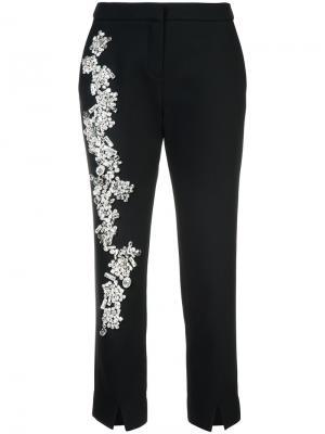 Декорированные брюки-дудочки Dice Kayek. Цвет: чёрный