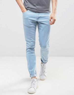 LDN DNM Голубые джинсы скинни. Цвет: синий