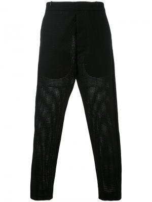 Укороченные классические брюки Tom Rebl. Цвет: чёрный