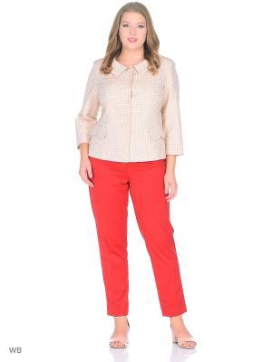 Жакет KA-TI. Цвет: бежевый, оранжевый