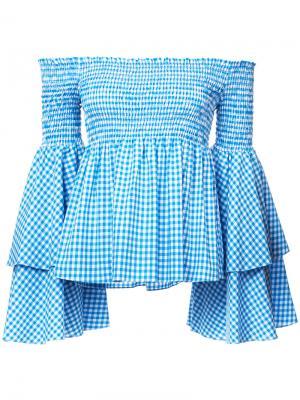 Блузка Appolonia Caroline Constas. Цвет: синий
