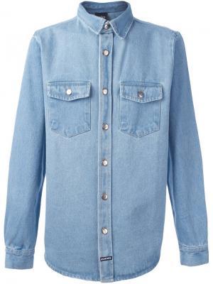 Джинсовая рубашка Big Les (Art)Ists. Цвет: синий