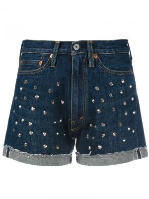 Джинсовые шорты с заклепками Junya Watanabe Comme Des Garçons. Цвет: синий