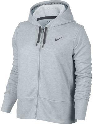 Толстовка W NK DRY HOODIE FZ Nike. Цвет: серый меланж
