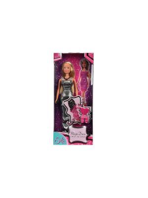 Штеффи Сменный наряд 2 в 1, 29 см.,12/48 Simba. Цвет: розовый, серый