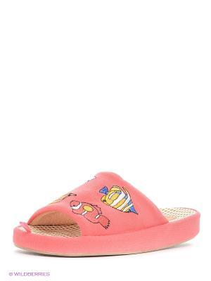 Тапочки Dream Feet. Цвет: коралловый, розовый, бежевый