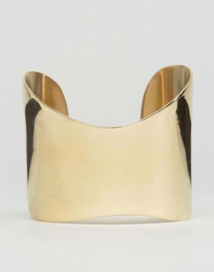 Made Золотистый браслет-манжета. Цвет: золотой