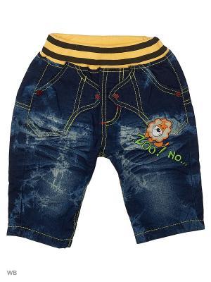 Шорты из тонкой джинсы Kidly. Цвет: голубой, синий