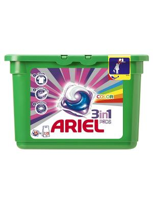 Гель в растворимых капсулах Liquid Capsules Color 15X28.8г Ariel. Цвет: зеленый