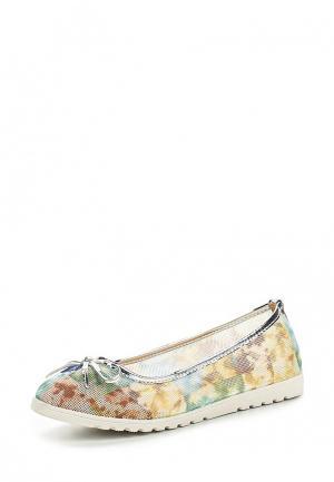 Балетки Ideal Shoes. Цвет: разноцветный