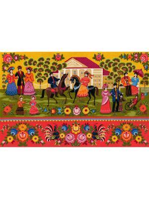 Городецкие мотивы набор для вышивания 79х49 см NITEX. Цвет: красный, желтый, синий