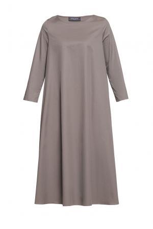 Платье из хлопка 187008 Cyrille Gassiline. Цвет: коричневый