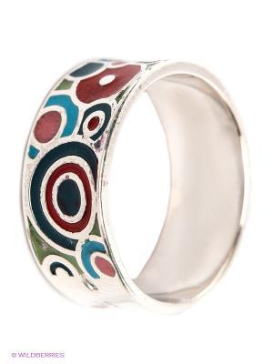 Кольцо Lovely Jewelry. Цвет: серебристый, красный, бирюзовый, голубой