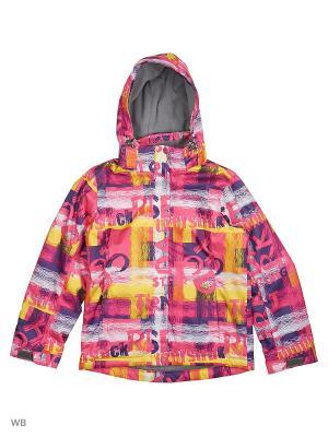 Куртка High Experience. Цвет: темно-фиолетовый, желтый, малиновый