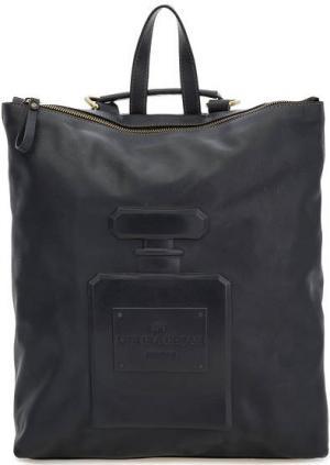 Сумка-рюкзак из мягкой кожи на молнии Io Pelle. Цвет: синий