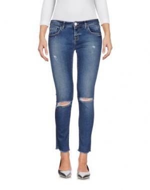 Джинсовые брюки ONEDRESS ONELOVE. Цвет: синий