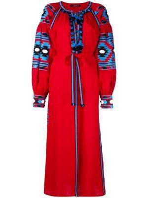 Платье с цветочными мотивами Vita Kin. Цвет: красный