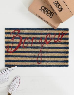Bombay Duck Придверный коврик с надписью Bonjour. Цвет: мульти