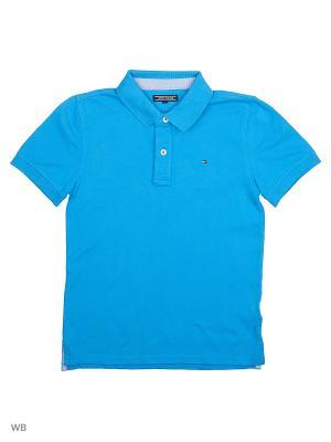 Футболка Tommy Hilfiger. Цвет: синий, индиго