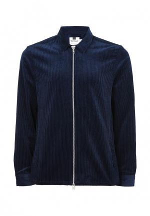 Рубашка Topman. Цвет: синий