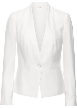 Пиджак (цвет белой шерсти) bonprix. Цвет: цвет белой шерсти