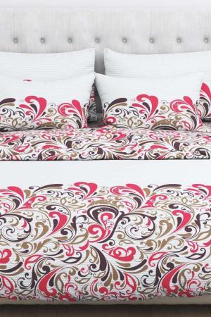 Постельное белье, 2-сп. Amore Mio. Цвет: белый, красный, коричневый