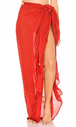 Однотонный sarong Indah. Цвет: кирпичный