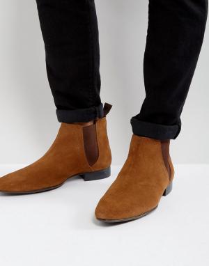 New Look Светло-коричневые замшевые ботинки челси. Цвет: коричневый