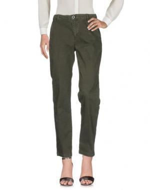 Повседневные брюки SEVEN7. Цвет: зеленый-милитари