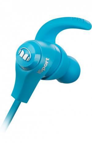 Вставные наушники iSport Bluetooth Monster. Цвет: голубой