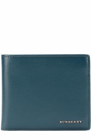 Кожаное портмоне с отделениями для кредитных карт Burberry. Цвет: зеленый