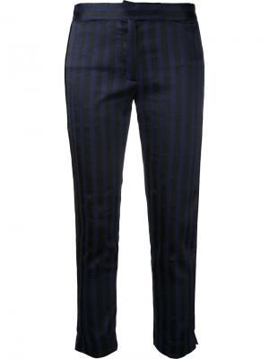 Облегающие полосатые брюки Ann Demeulemeester. Цвет: розовый и фиолетовый