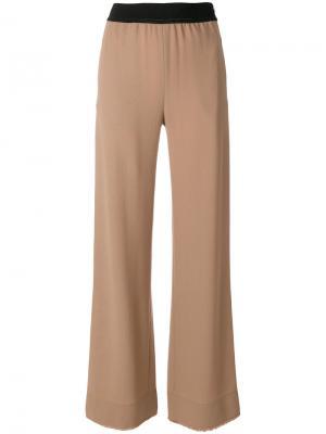Расклешенные брюки с эластичным поясом Veronique Leroy. Цвет: коричневый