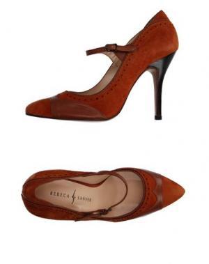 Туфли REBECA SANVER. Цвет: ржаво-коричневый