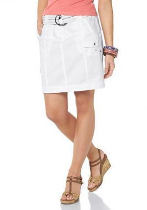 Flashlights, юбка карго (комплект), вместе с ремнём BOYSEN'S. Цвет: белый