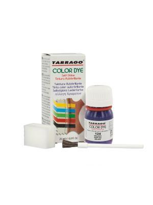 Краситель  для гладкой кожи TDC01 COLOR DYE, стекло, 25мл. (124 темно-фиолетовый) Tarrago. Цвет: темно-фиолетовый