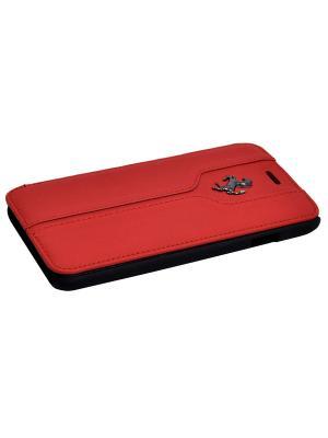 Чехол Ferrari для iPhone 6/6S Montecarlo Booktype Red. Цвет: красный