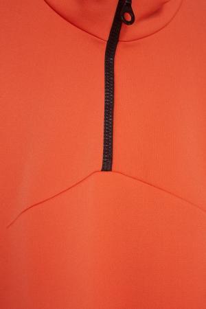 Хлопковое платье VIKTORIA IRBAIEVA. Цвет: оранжевый