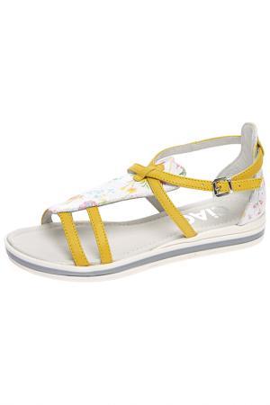 Босоножки Ciao Bimbi. Цвет: желтый, комбинированный