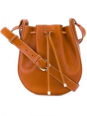 Drawstring shoulder bag Vanessa Seward. Цвет: телесный