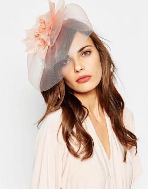 Neve & Eve Вуалетка с цветком WEDDING. Цвет: розовый